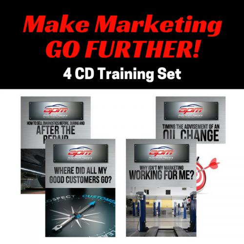 Make Marketing Go Further 4 CD set Auto Profit Masters Shop Owner Service Advisor Training