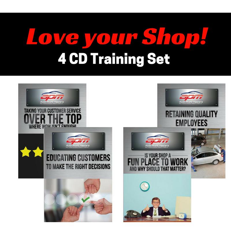 Love your Shop 4 CD set - Auto Profit Masters Shop Owner Training