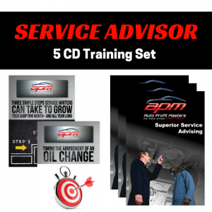 Service Advisor 5 CD set - Auto Profit Masters Shop Owner Training