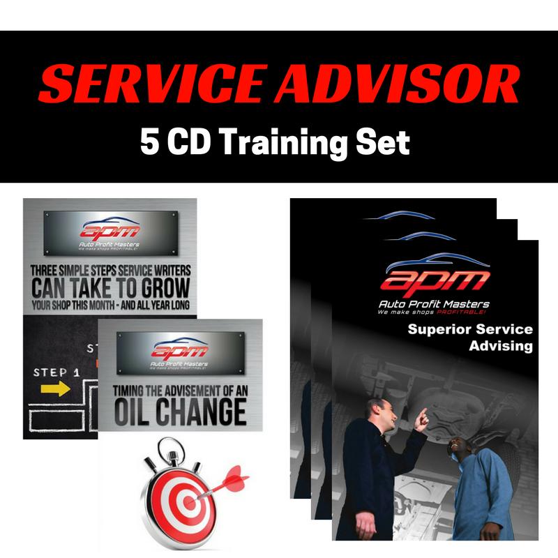 Service Advisor 5 CD set - Auto Profit Masters Shop Owner Training