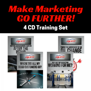 Make Marketing Go Further 4 CD set Auto Profit Masters Shop Owner Service Advisor Training